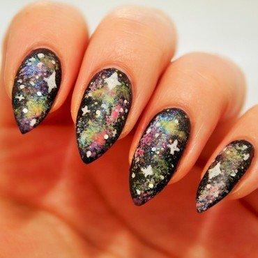 Galaxy far far away... nail art by Jane
