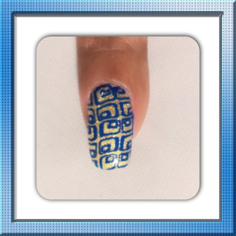 Nail stamp nail art by Reina