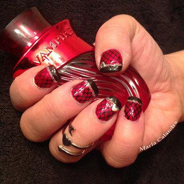VAMPY nail art by Marla Calandra