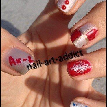 Festoyons pour l'Anniversaire de Dame Ax-L nail art by SowNails