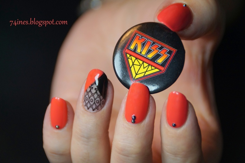 God Gave Rock 'N' Roll To You  nail art by 74ines