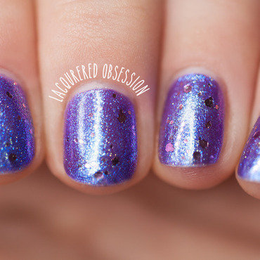 Layered Sparkle nail art by Lacquered Obsession