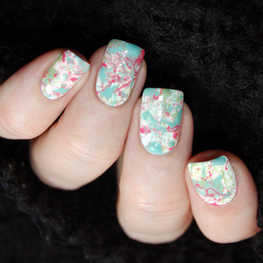 January Nail Art Challenge - New Technique nail art by Katie of Harlow & Co.