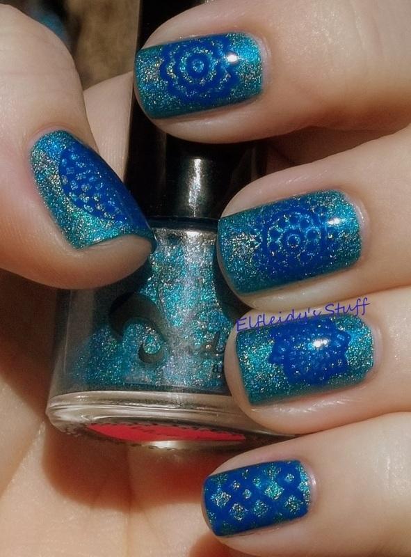 Holo geometrics nail art by Jenette Maitland-Tomblin