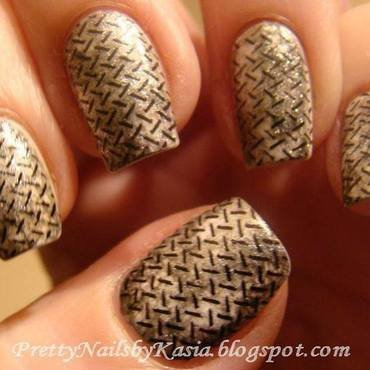 Steel nails nail art by Pretty Nails by Kasia