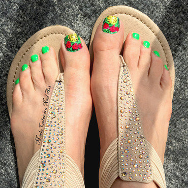 FRUITY FEET nail art by Marla Calandra