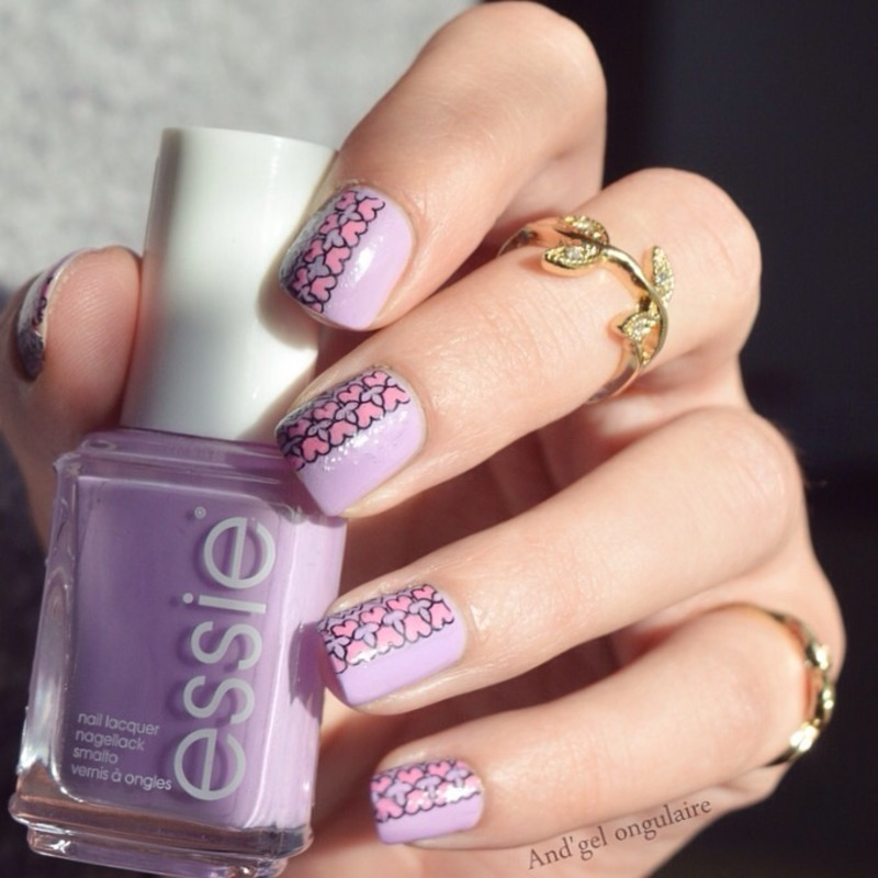 Stamping 100% Essie  nail art by And'gel ongulaire