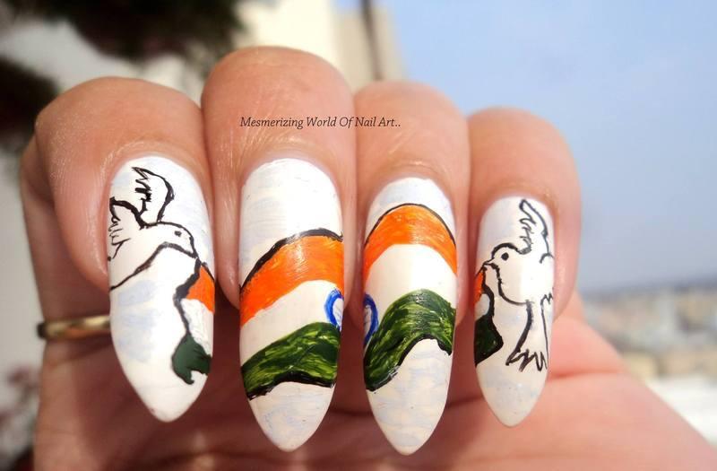 Indian Republic Day Nail Art nail art by Anubhooti Khanna