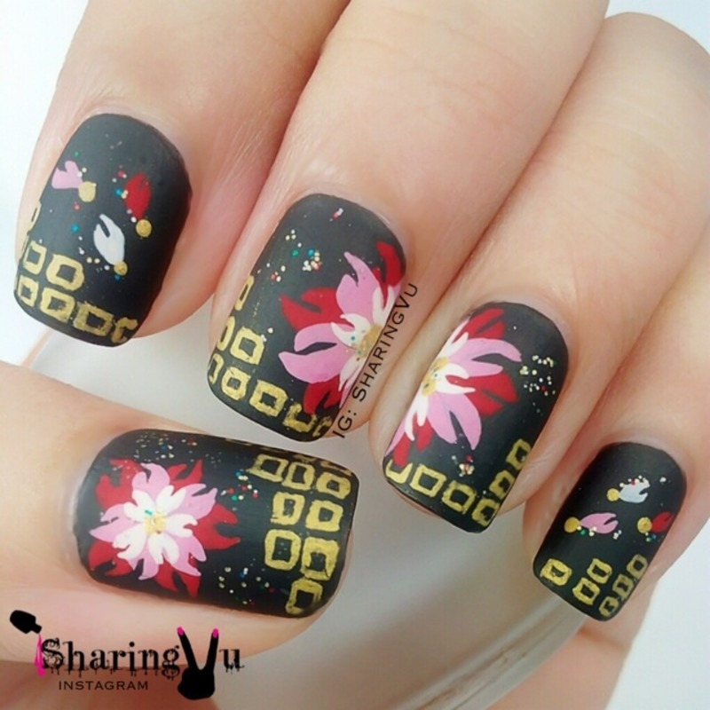 🌸 Japanese Style Design 🌸 nail art by SharingVu
