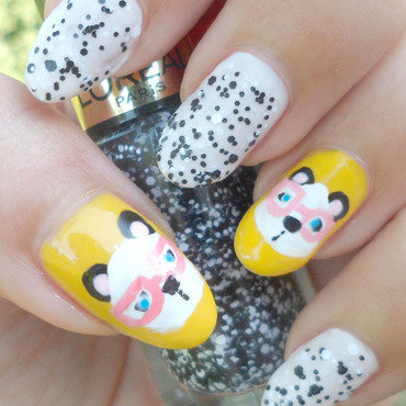 Cute panda nails thumb370f