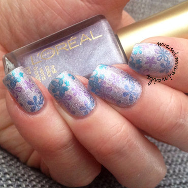 Multicolour holo stamping nail art by manimaninails
