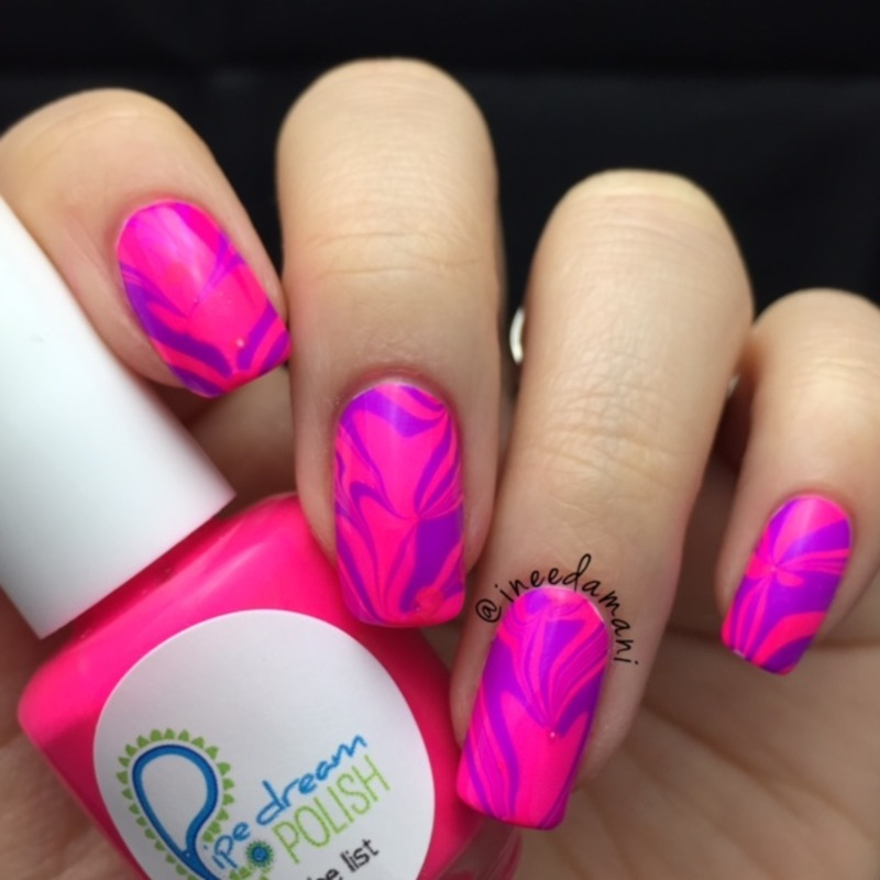 Water Marble Nail Polish Brands India: Valentine's Day Heart Water Marble Nail Art By Carmen