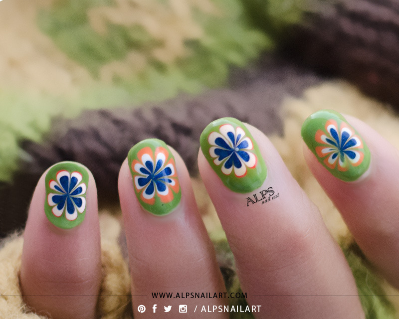 Blobbicure Dry marble nails tutorial by @alpsnailart nail art by Alpsnailart