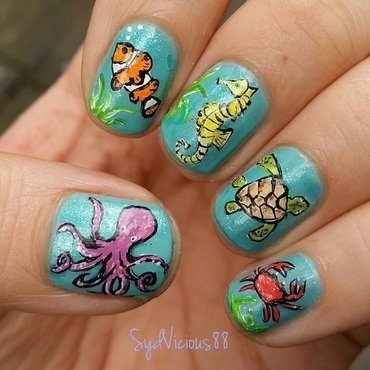Under the Sea nail art by SydVicious