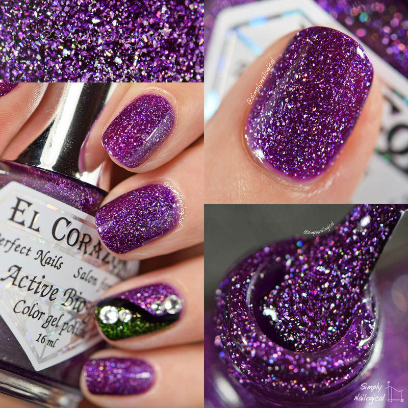 El Corazon Butterfly Swatch by simplynailogical