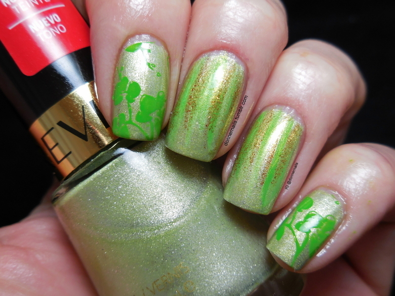 St. Patrick's Day nail art by Donner
