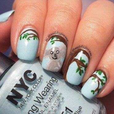 Koala Nail Art nail art by Jonna Dee