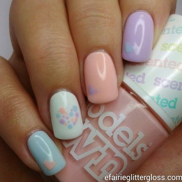 Pastel Love Hearts by Emma
