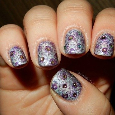 Seashells nail art by Agni