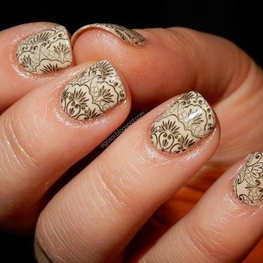 Lace nail art by Agni