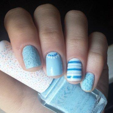 baby blue skittle nail art by marina
