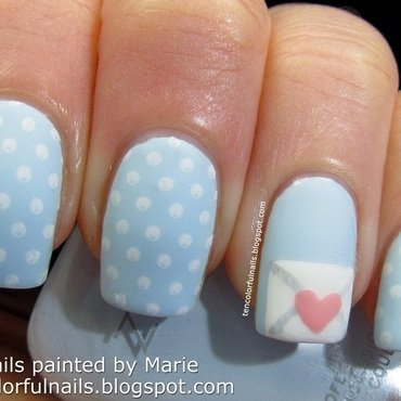 Love Note Nail Art nail art by Marie