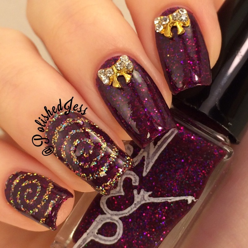 Hypnotic  nail art by PolishedJess
