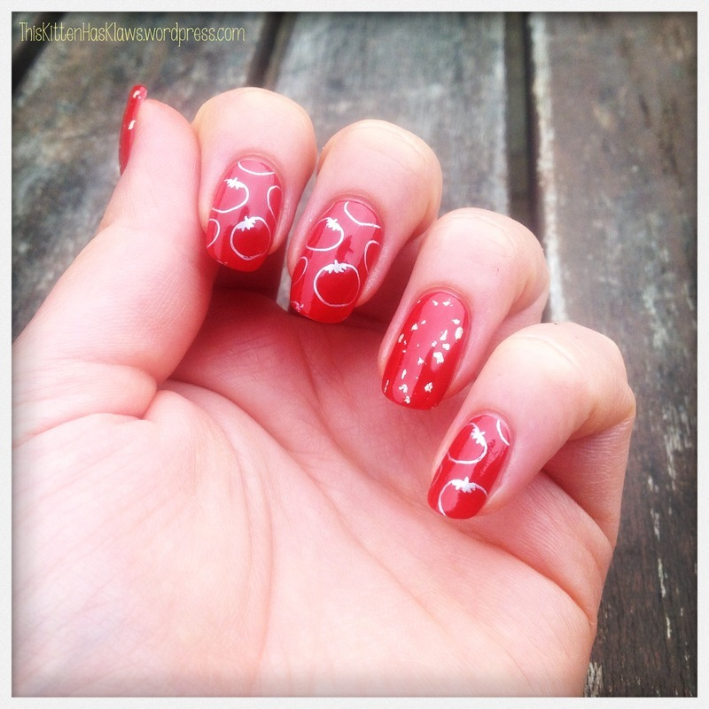 You Like Tomayto and I Like Tomahto nail art by Catherine