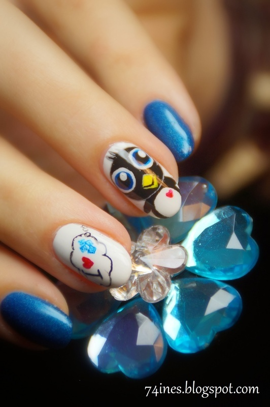 Colder nail art by 74ines
