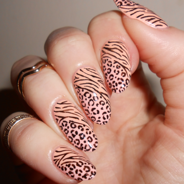 Mixed Animal Print nail art by MyMintNails