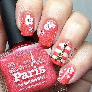 Paris, je t'aime nail art by Blackqueennailsdesign