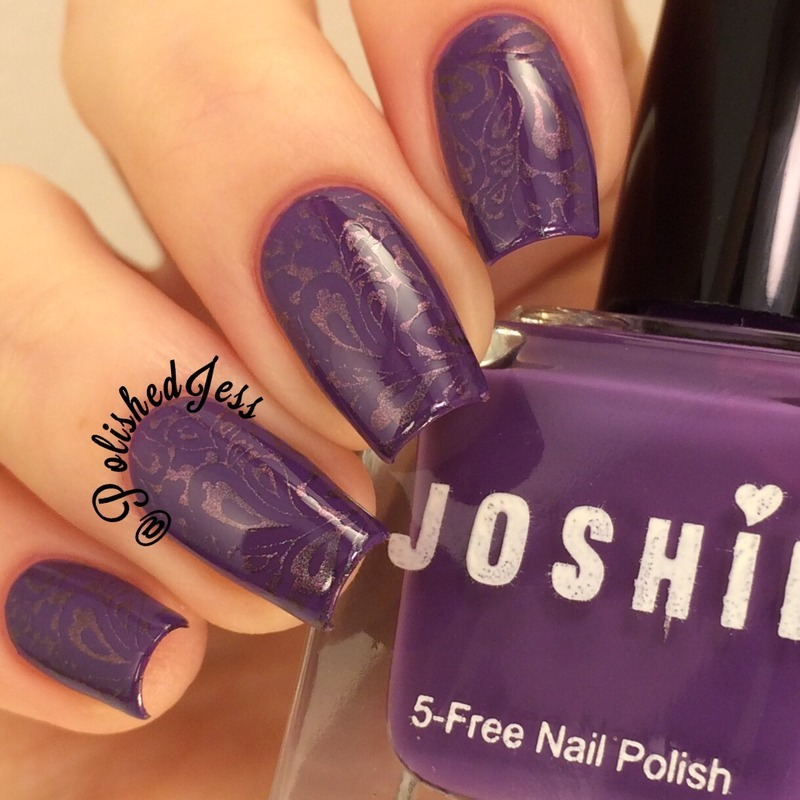 Groovy Paisley  nail art by PolishedJess
