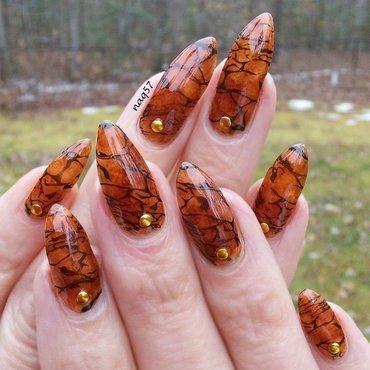 Amber Texture nail art by Nora (naq57)