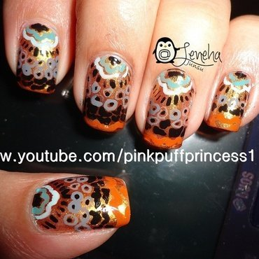 Ancient Asian Folk Nail Art nail art by Leneha Junsu