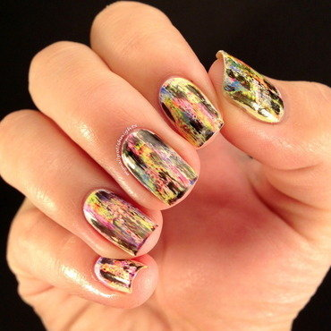 Grungy music nails nail art by Anna Malinina