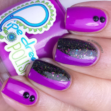 Purple Half Moon nail art by Rose Mercedes