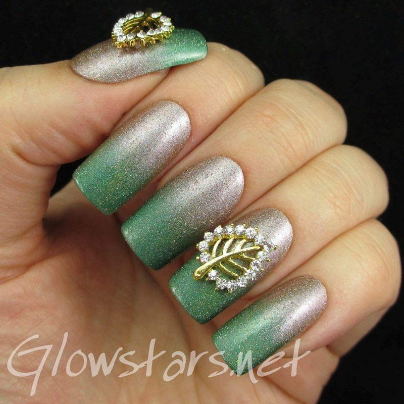 Feat Born Pretty Studded Hollow Leaf Nail Art Decorations nail art by Vic 'Glowstars' Pires