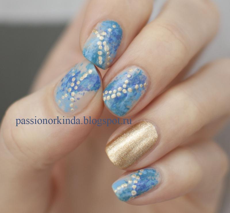 Sea treasure nail art by Passionorkinda