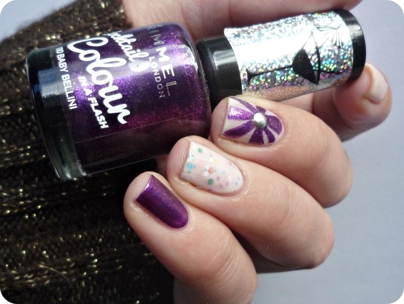 Nail art with sandwich mani nail art by Romana