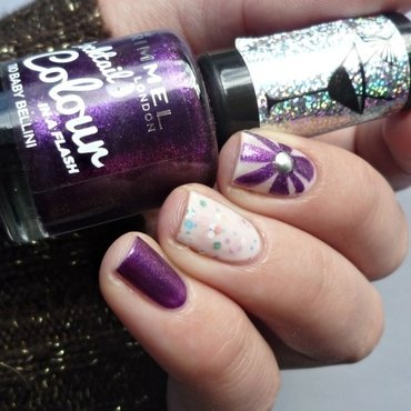 Nail art with sandwich mani nail art by Romana