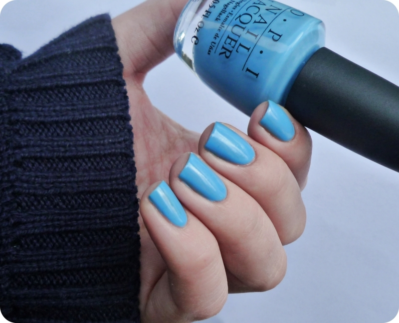 OPI No Room for the Blues Swatch by Romana