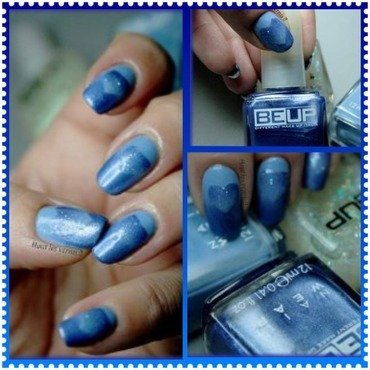 Blue valentine nail art by Elodie Mayer