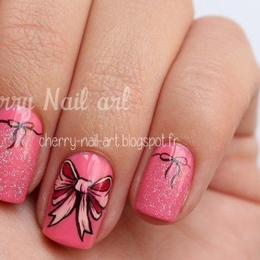 Nail art noeud nail art by Cherry Nail art