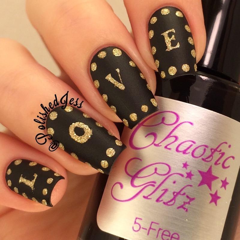 LOVE nail art by PolishedJess