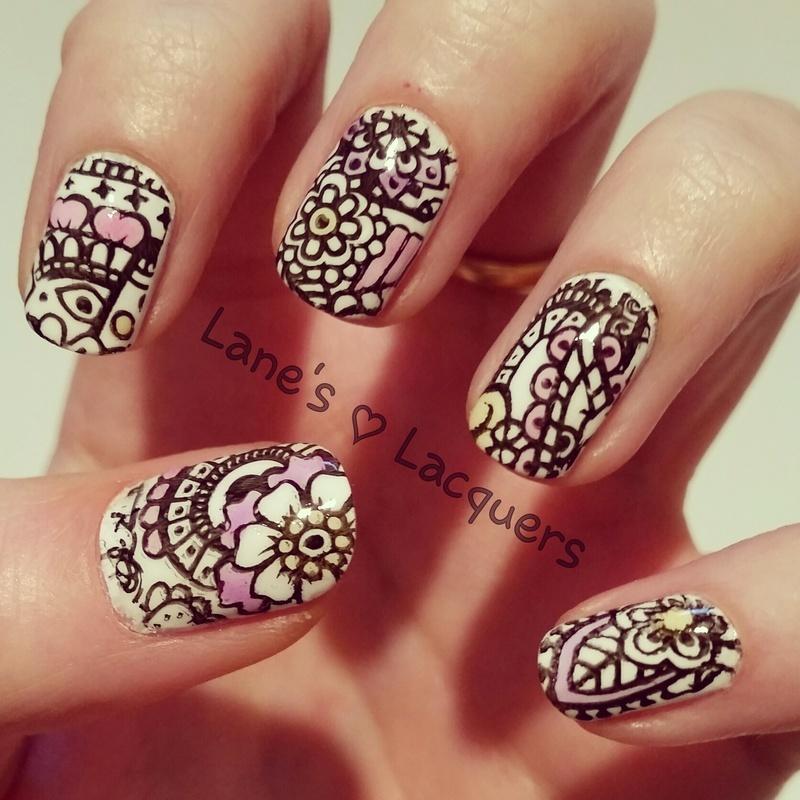 Delicate Lead Light Nail Art nail art by Rebecca
