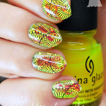 Neon with JQ-19 plate nail art by sabbatha