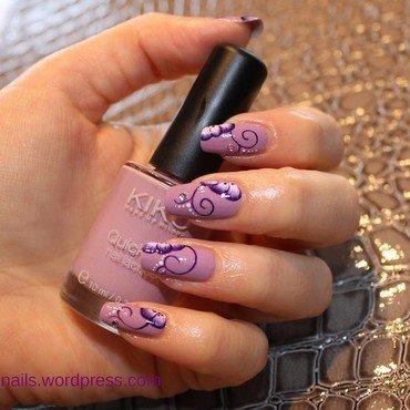 purlple one stroke nail art by lovingnails nail art