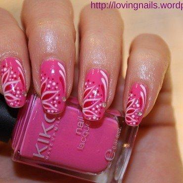 flower girly nail art by lovingnails nail art