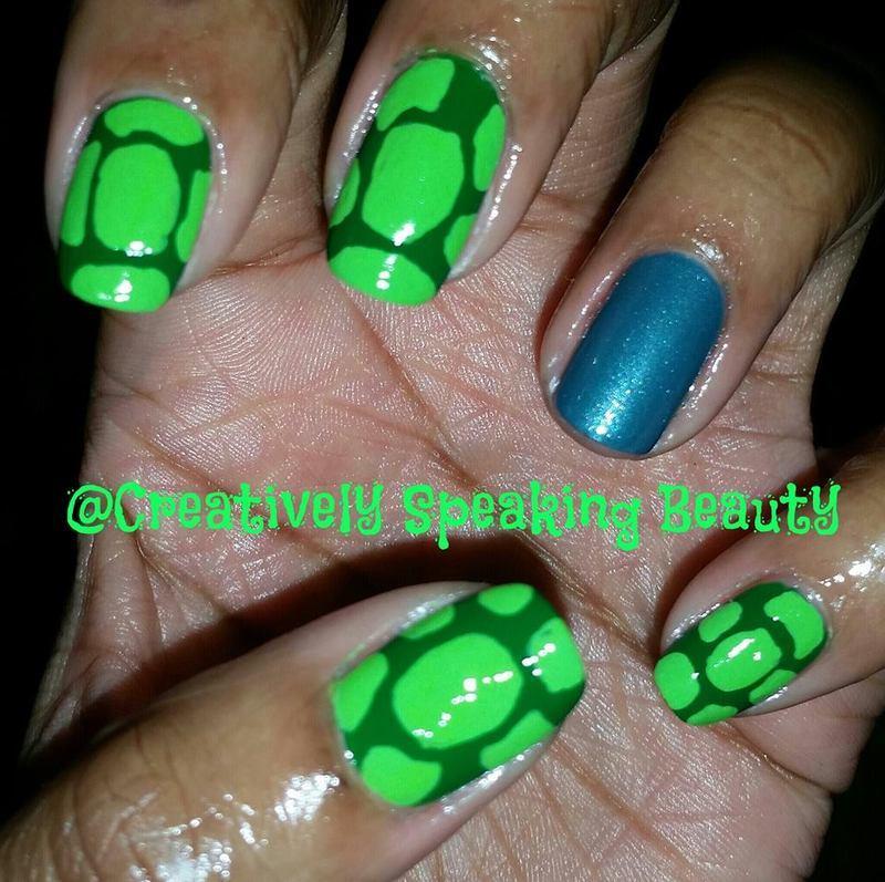 Turtle Shells nail art by Kewani Granville