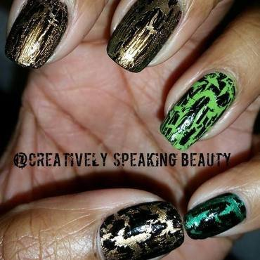 Lizard/Snake Skin nail art by Kewani Granville